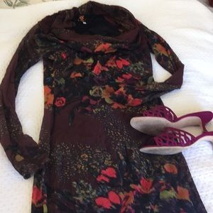 Jean Paul Gaultier floral body con dress XL